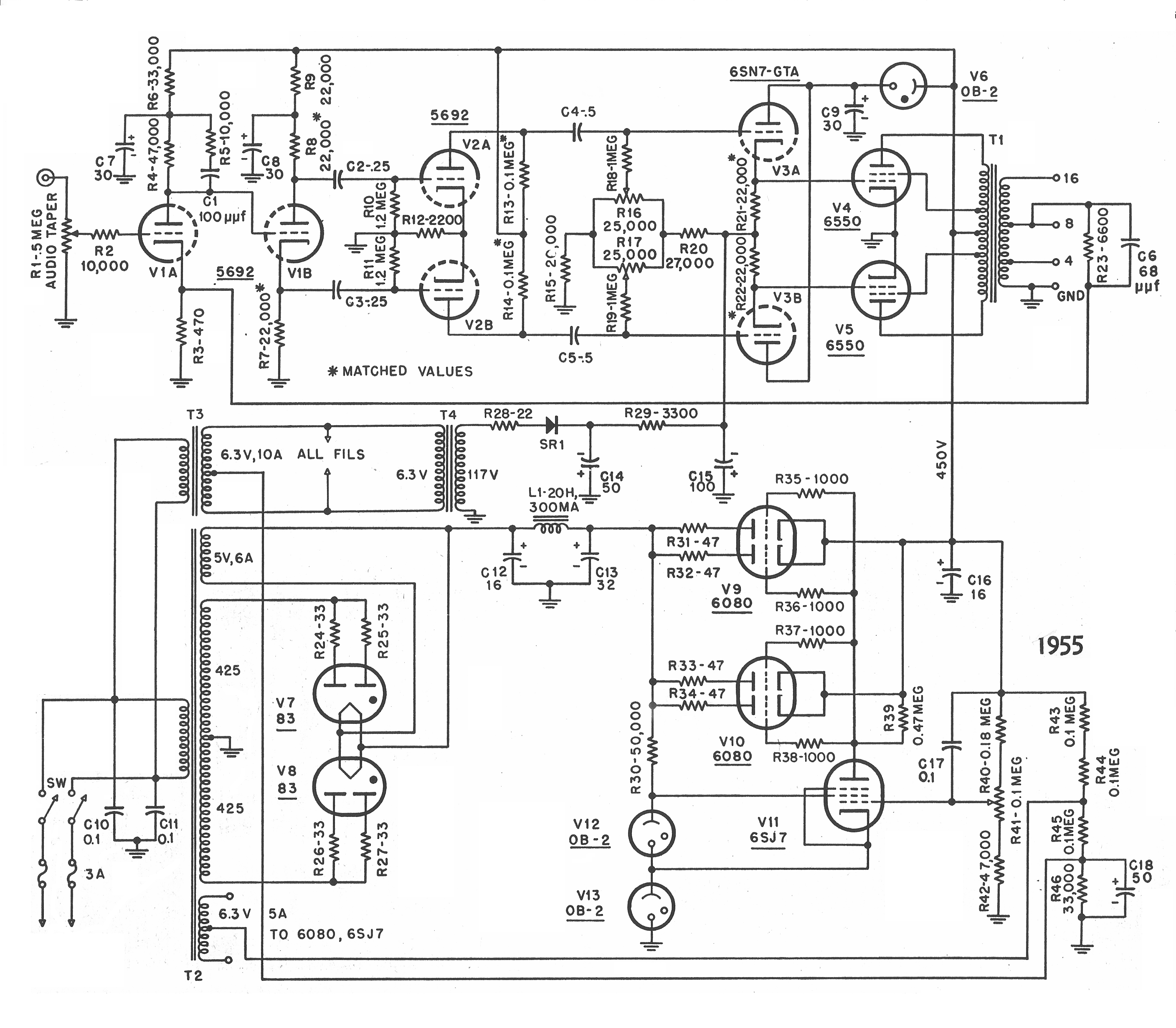 Pp 6550 Guitar Amp Schematics Wiring Diagrams