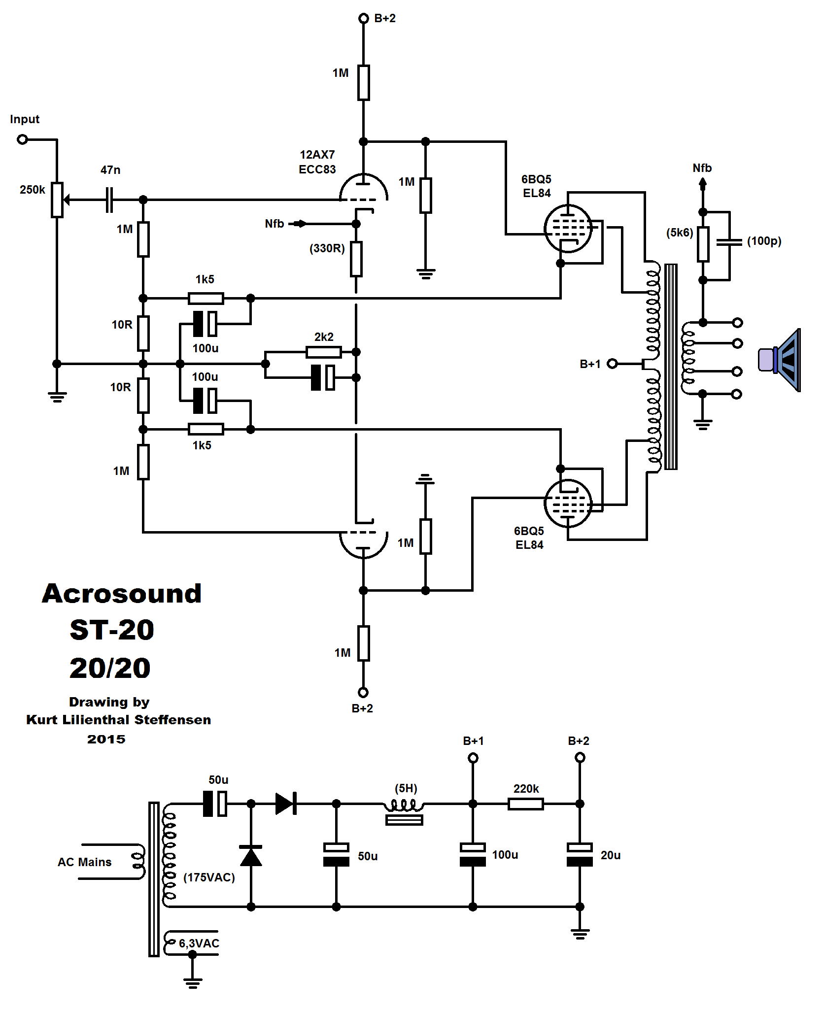 push pull amplifier circuit diagram