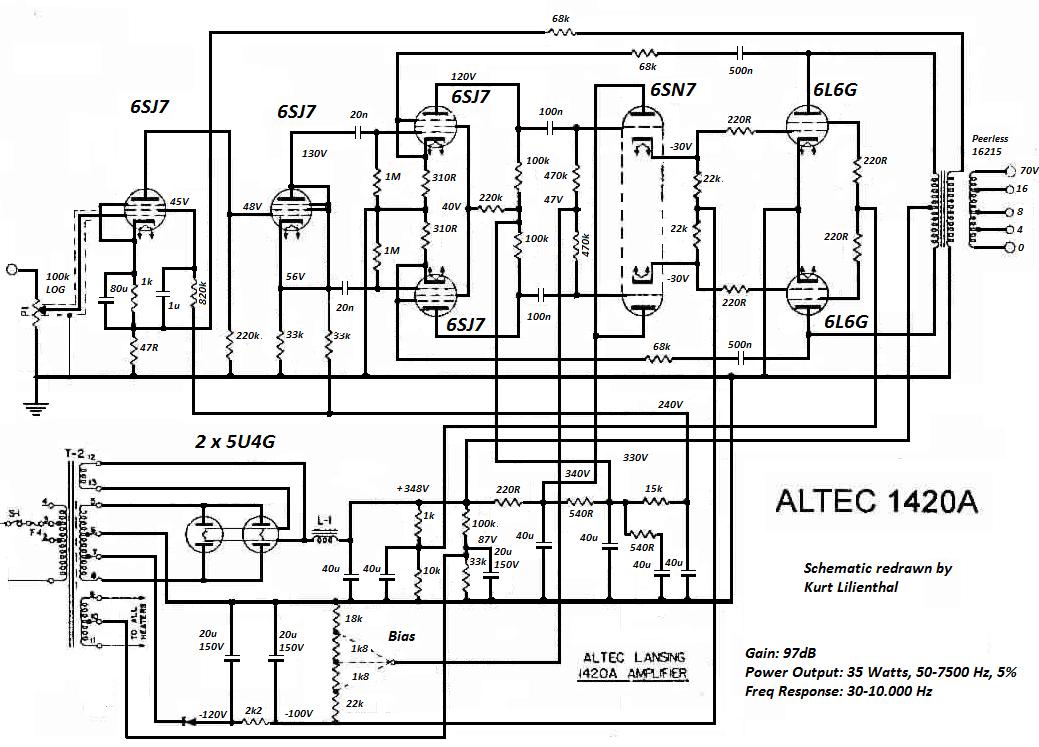 Altec Lansing 1420A, 6L6G PP, ed