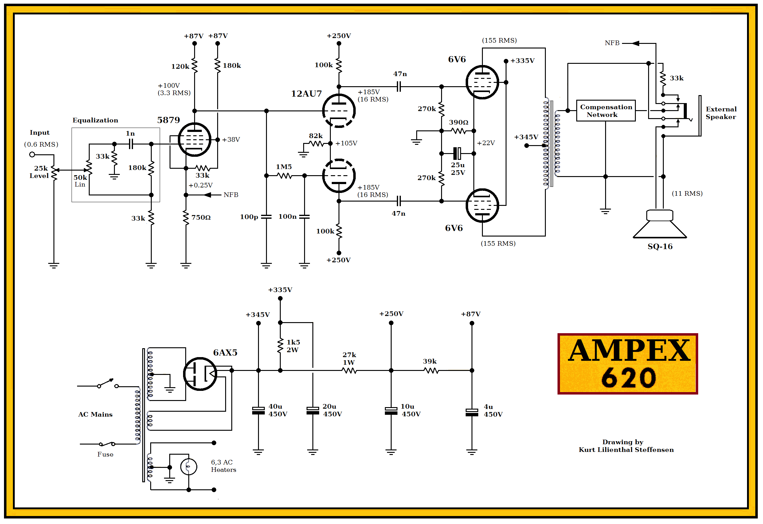 100 Amplifiers Part 3 1955 59 Lilienthal Engineering 1kw Rmsmosfetamplifier Service Manual Free Download Schematics Ampex 620 6v6 Pp Ed