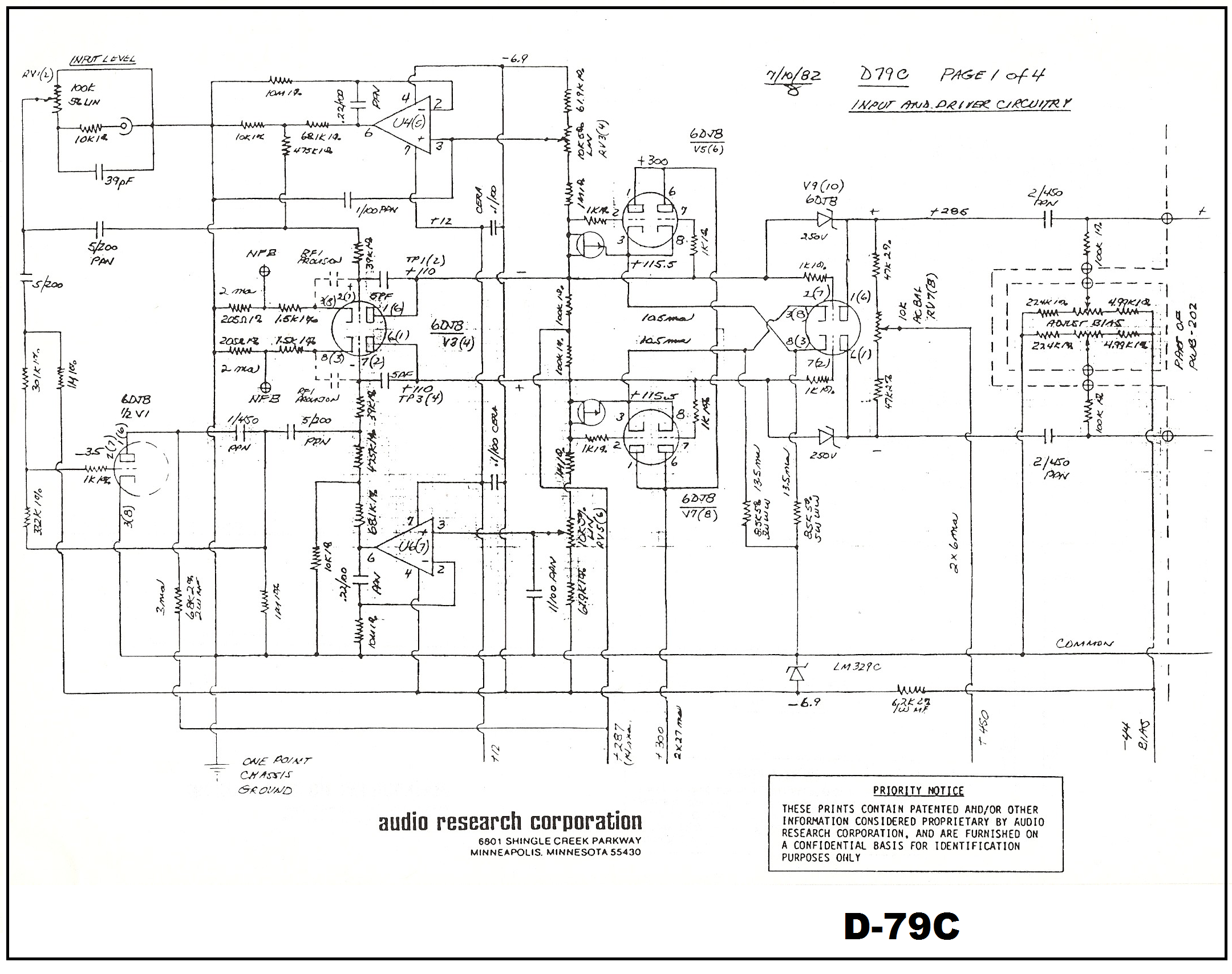 100 Amplifiers Part 4 1959 82 Lilienthal Engineering Class A Audio Amplifier Circuit Research D 79c