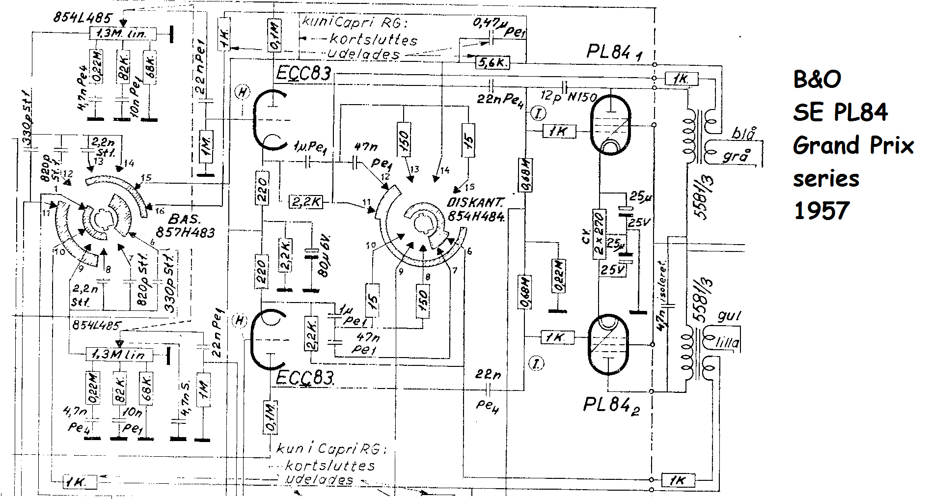 100 Amplifiers Part 4 1959 82 Lilienthal Engineering Carvin Vintage 16 Schematic Bo Grand Prix Pl84 Se Stereo