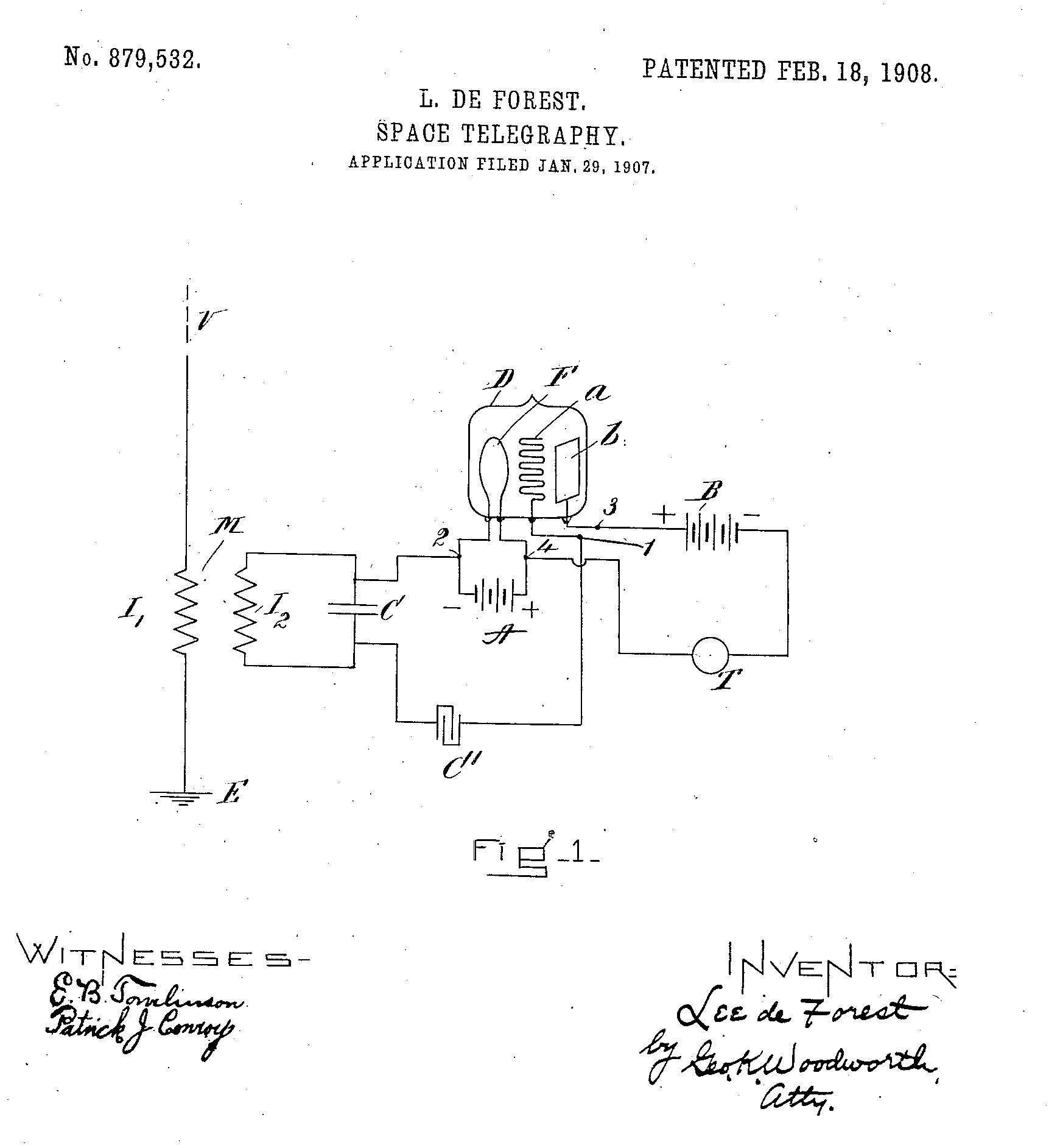 Deforest 1907 amp patent.