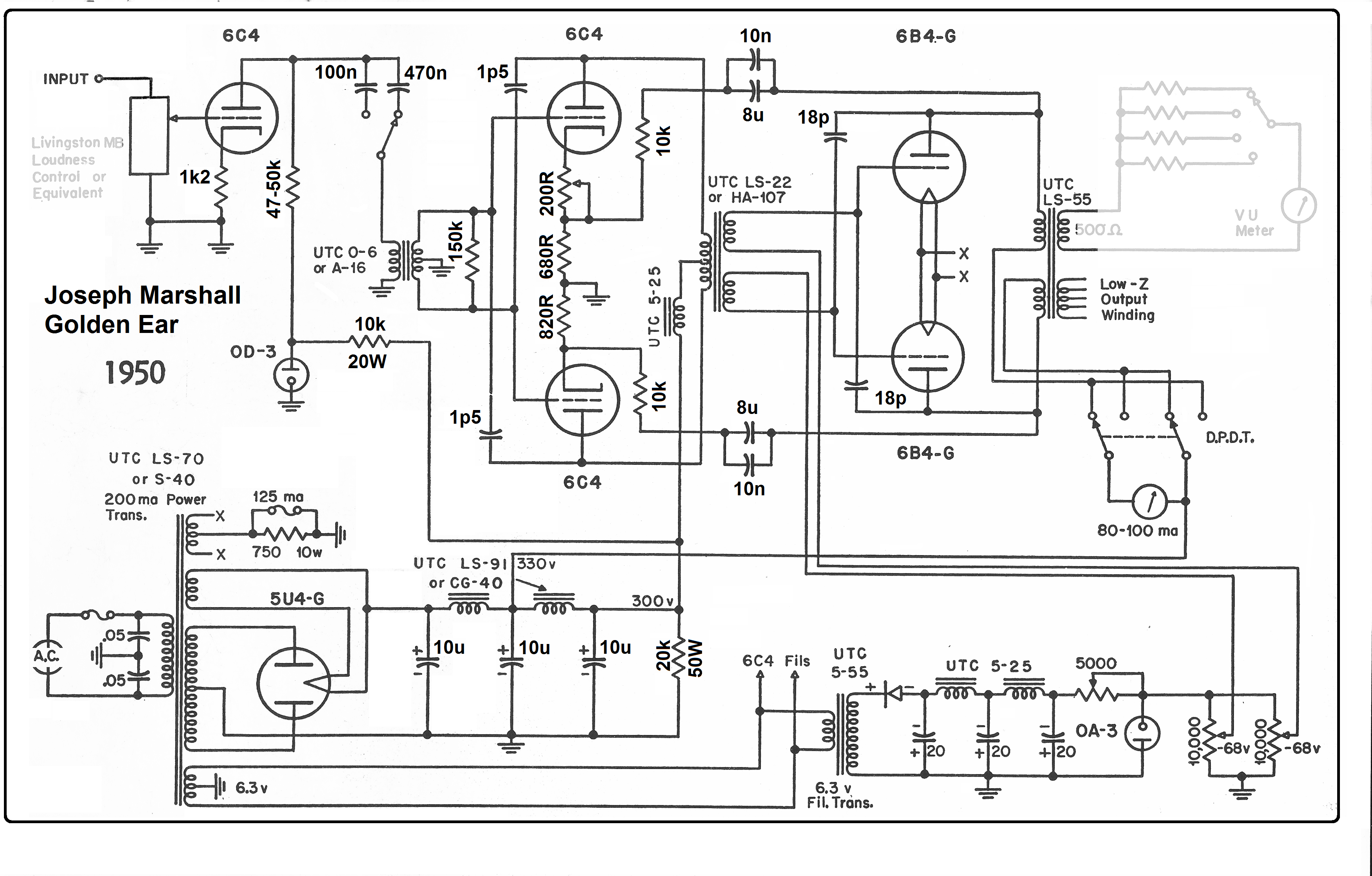 Linear  lifier Schematics on tube linear lifier cb radio
