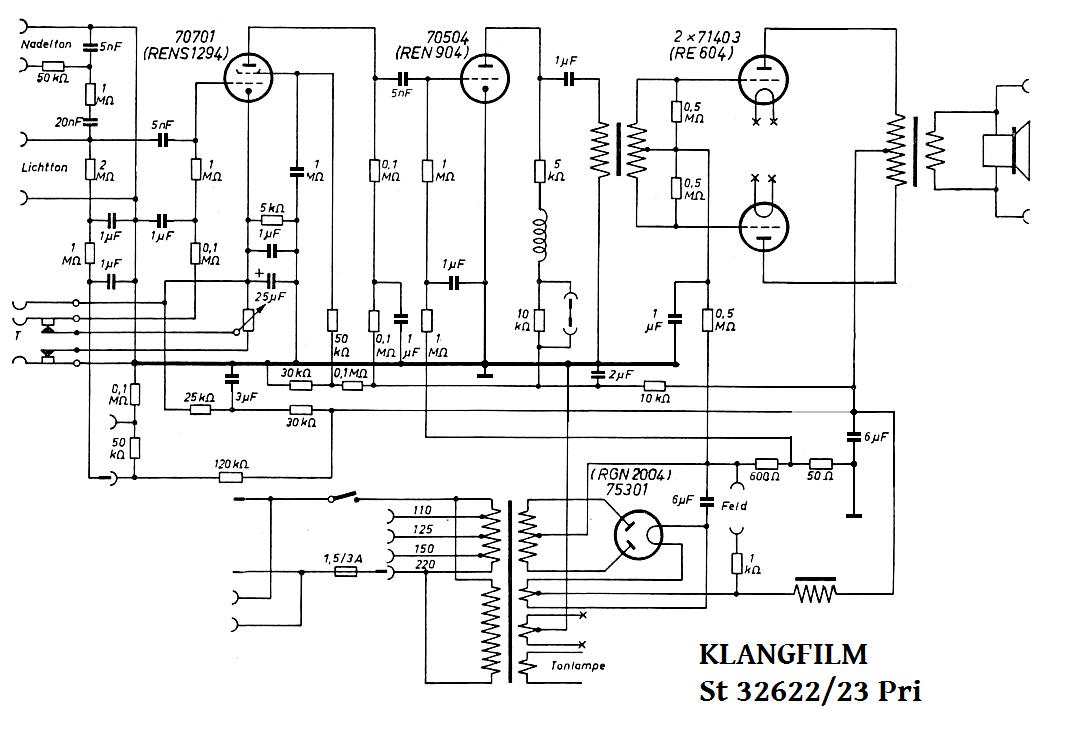 Klangfilm st 32622-23 , RE604PP, transf drive phase spl, rettet