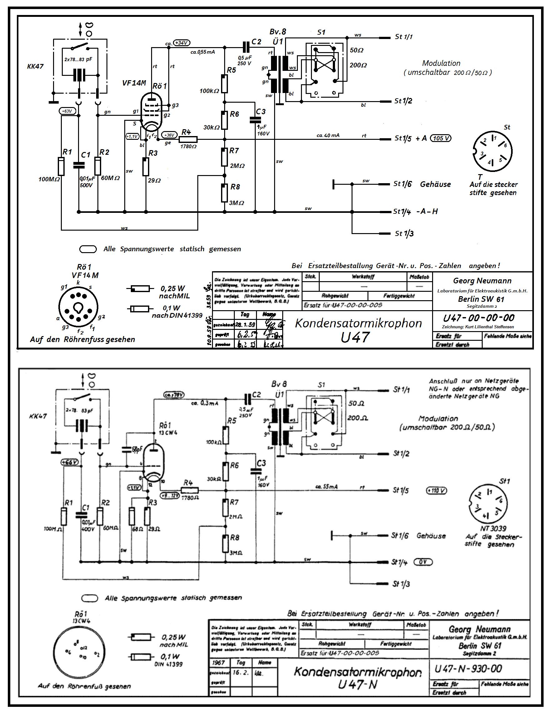 Neumann U47 , schematic , ed