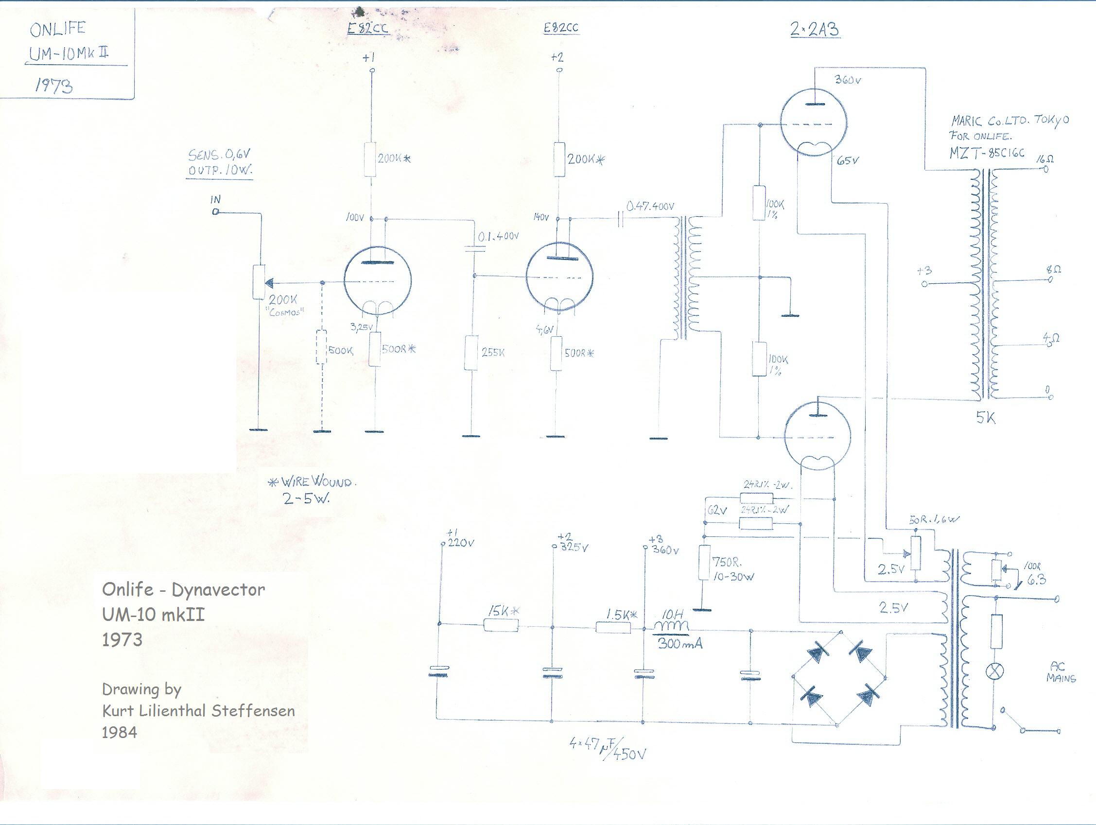 Onlife Dynavector UM-10 mkII, 2A3 PP , 1973