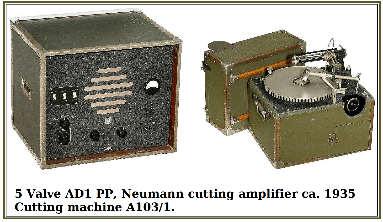 Pix, Neumann cutting amp. AD 1 PP , 1935