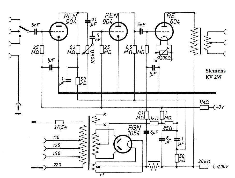 Siemens KV2W , RE604 SE, ed