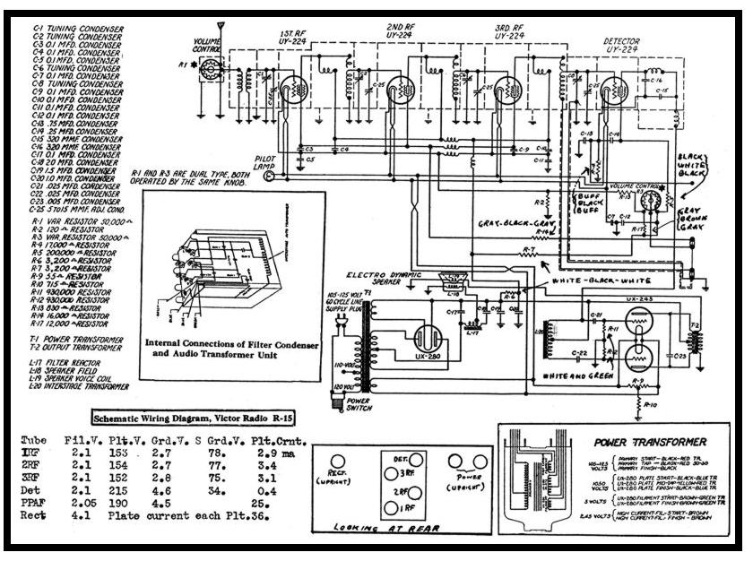 Victor R-15 radio, UX-245 PP , interstage , vers 2