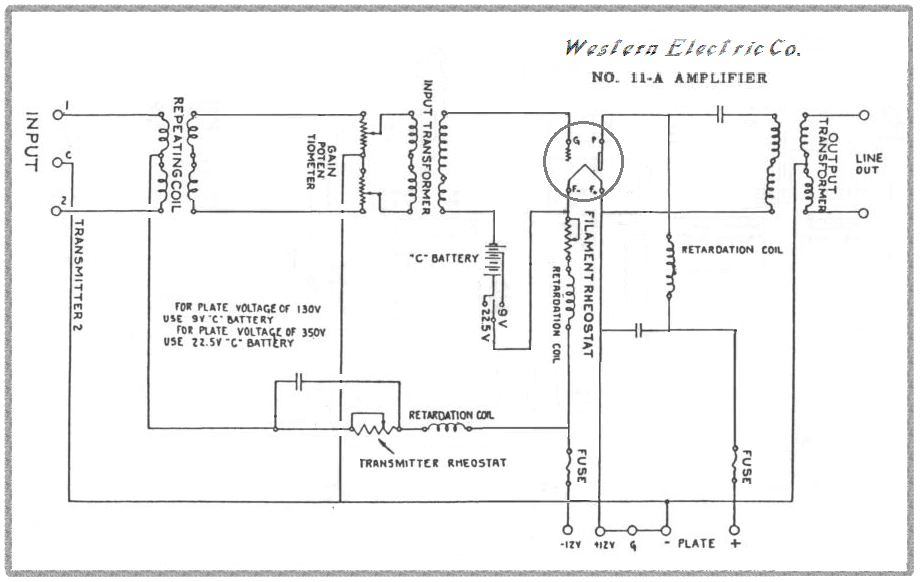 Western Electric 11-A , Line out , edited