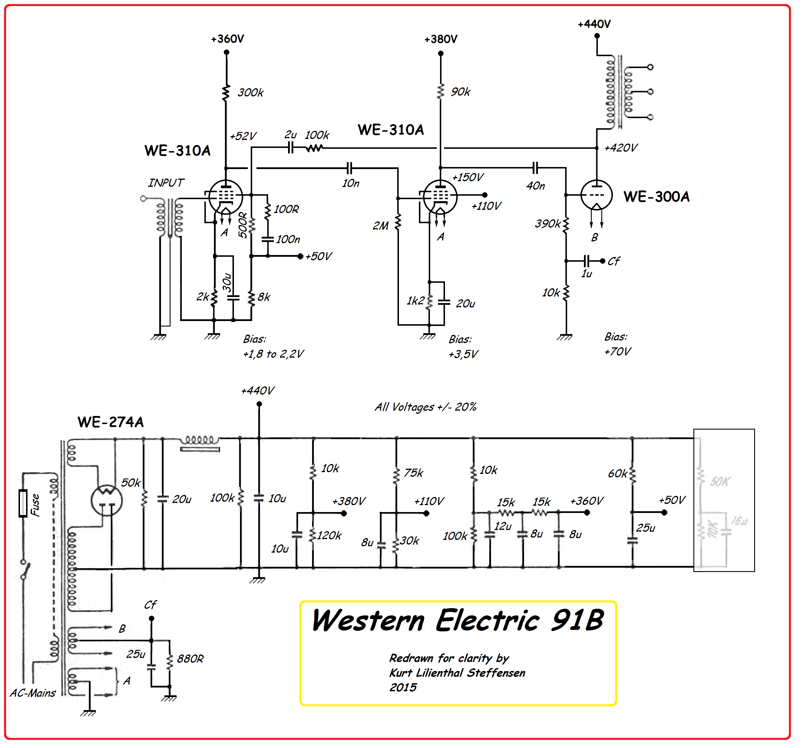 Western Electric 91B, simplified vers 2