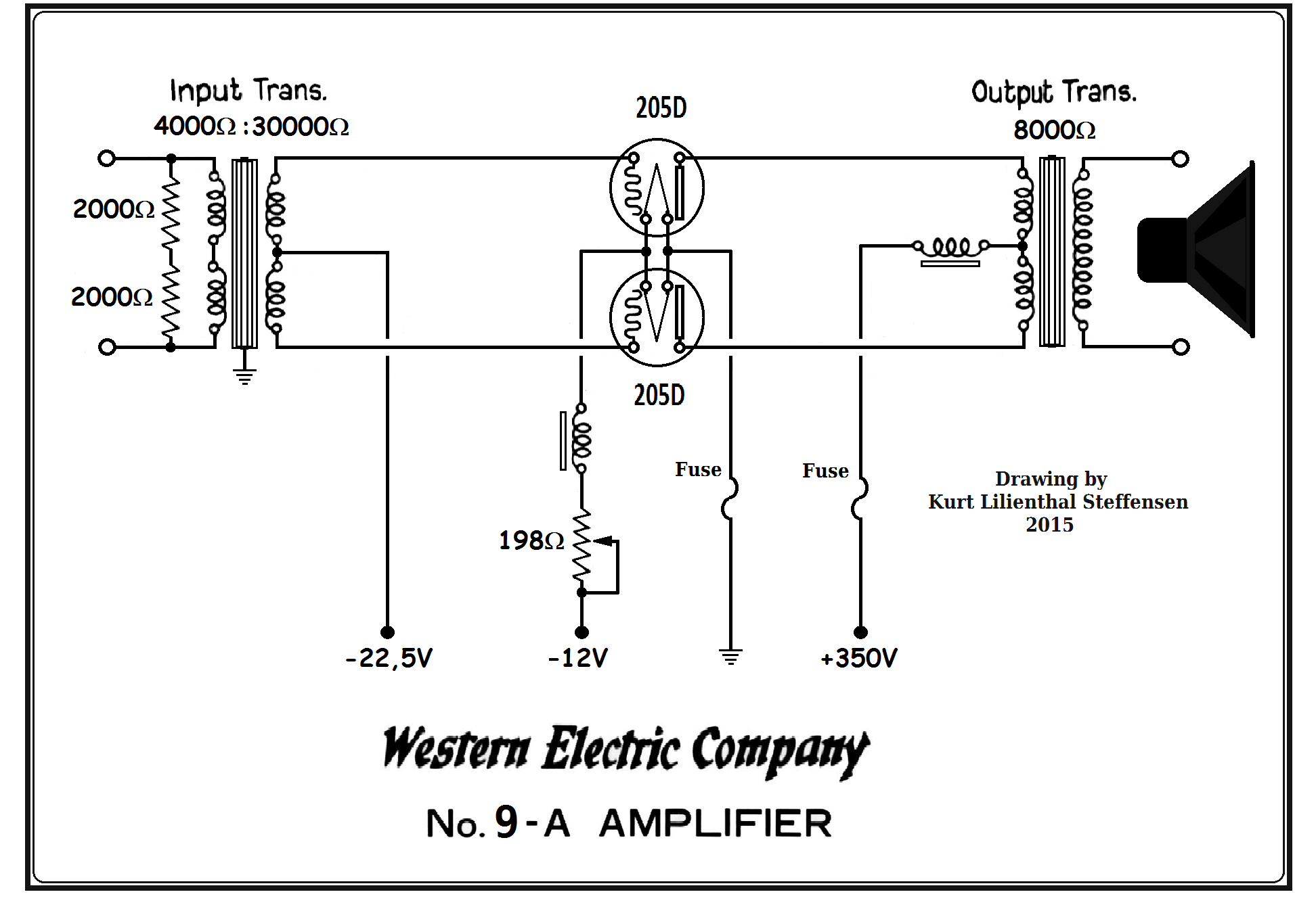 Western Electric 9A, Edited