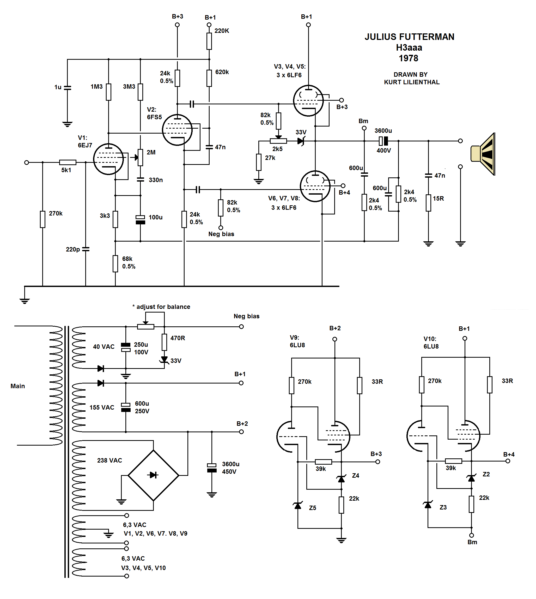 100 Amplifiers Part 3 1955 59 Lilienthal Engineering Class C Amplifier Circuit Diagram If You Happen To Have Some Pictures Of The In This Compendia Please Do Not Hesitate Contact Me Will Be Accredited Your Name