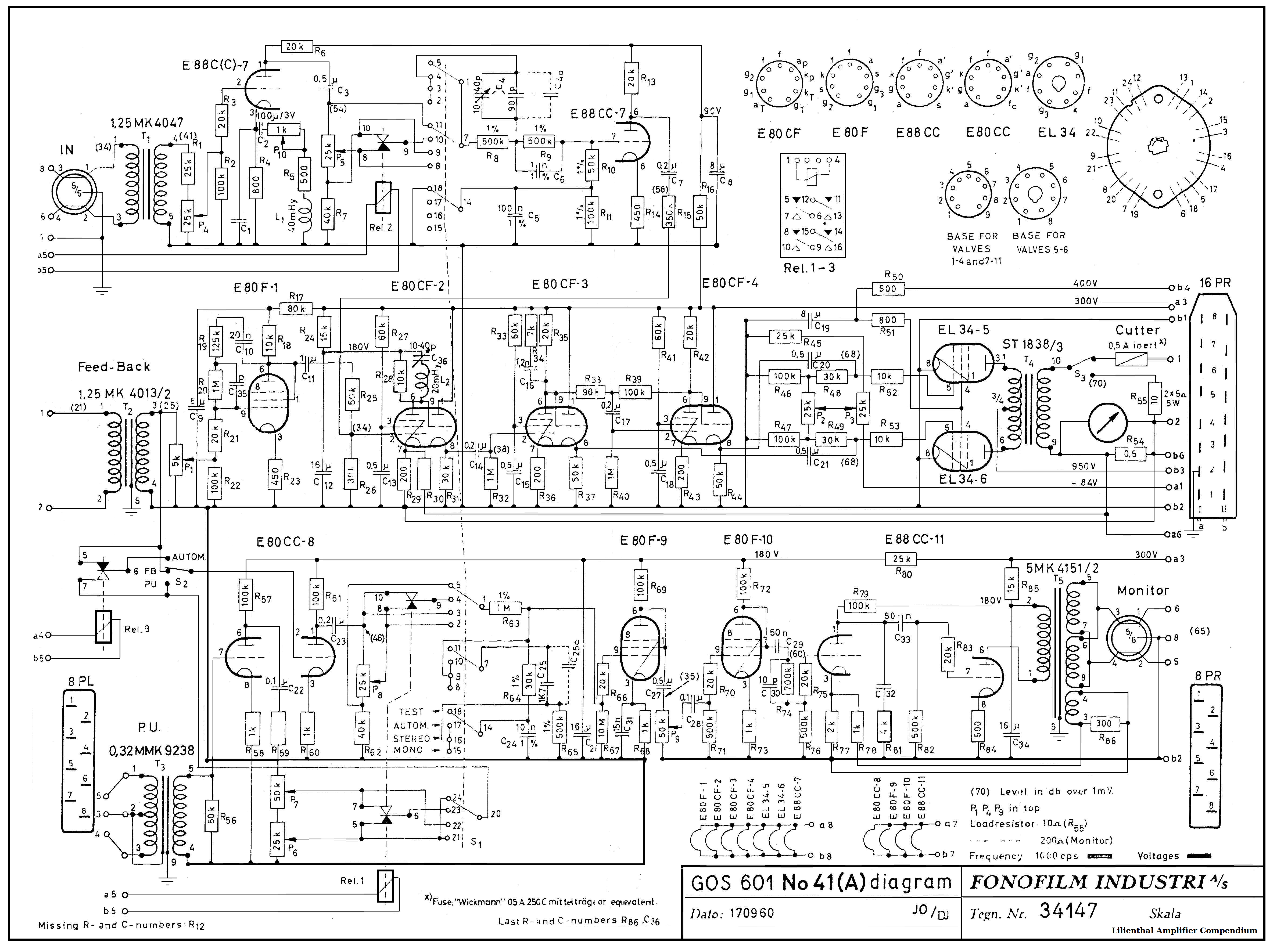 100 Amplifiers Part 3 1955 59 Lilienthal Engineering Free Project Circuit Schematic Passive Baxandall Tone Control