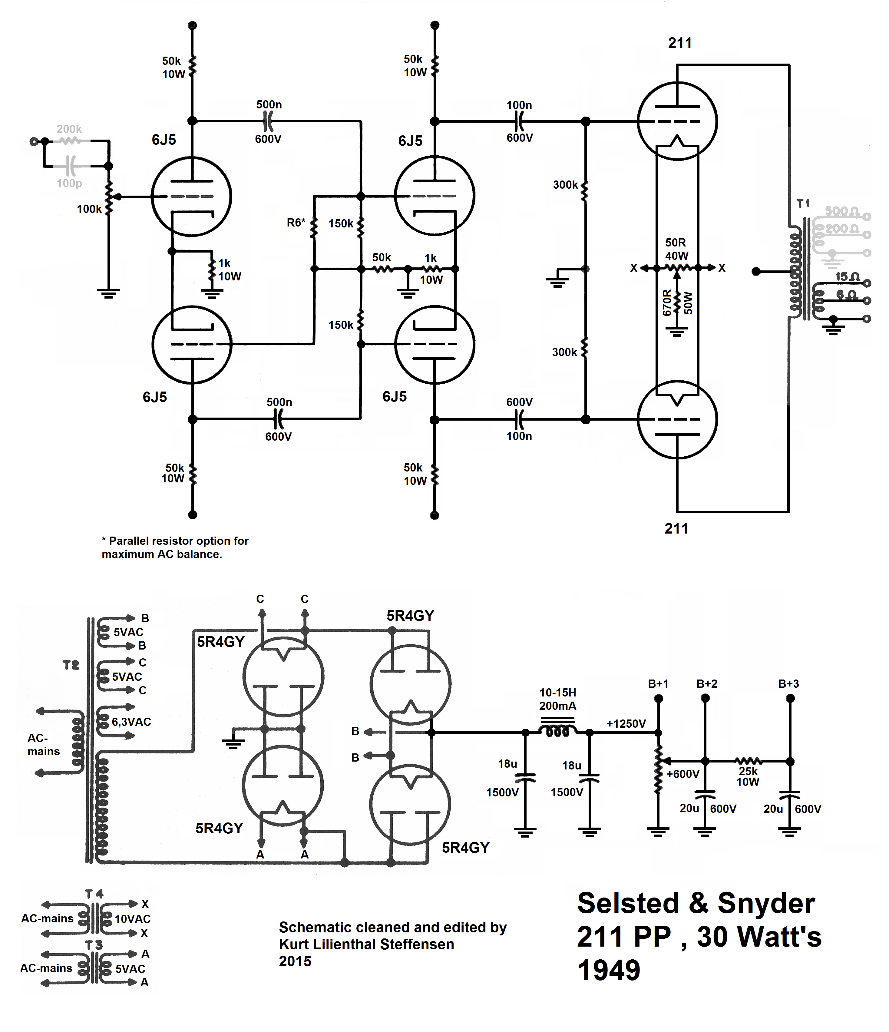 100 Amplifiers Part 2 1945 54 Lilienthal Engineering This Pushpull Amplifier Uses A Voltage Follower And Mosfet Biasing Selsted Snyder 211 Pp 1949