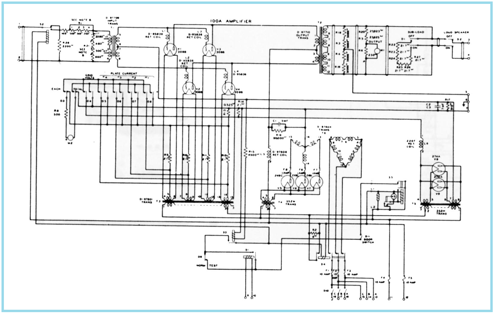 100 Amplifiers Part 1 1916 45 Lilienthal Engineering Vacuum Tube Tesla Coil Circuit Diagram Free Download Wiring Western Electric A B Original Schematic Drlig Kopi