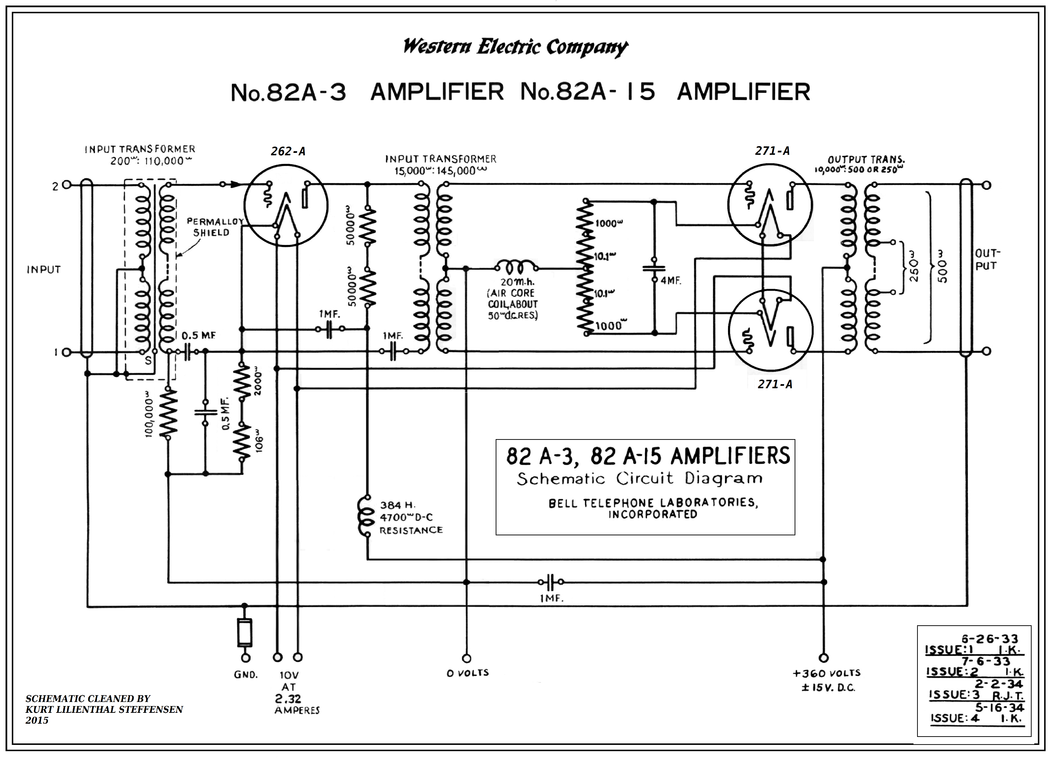 100 Amplifiers Part 1 1916 45 Lilienthal Engineering Circuit Diagram Audio Tube Amplifier Typical Application Western Electric 82 A 271a Pp Ed Version